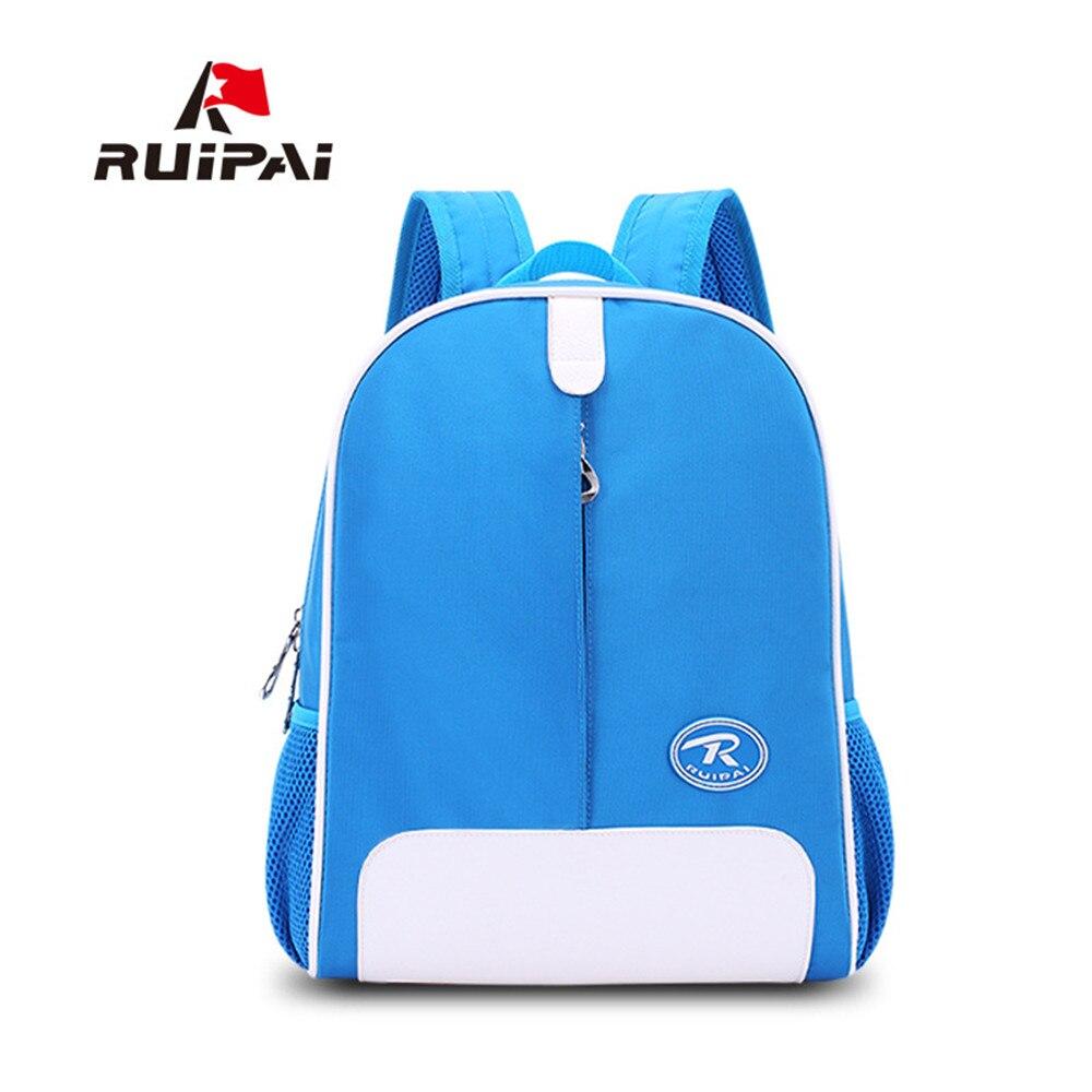 RUIPAI абсолютно милые дети ортопедические школьные сумки для мальчиков и девочек рюкзак Чистый Цвет PU Водонепроницаемый мода полиэстер ребе...