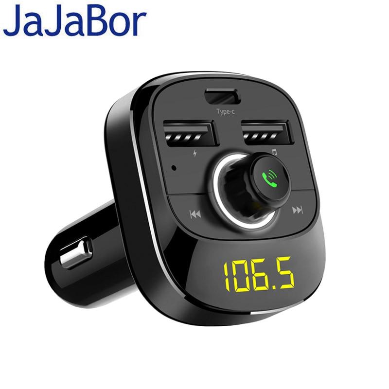 JaJaBor Bluetooth Car Kit Wireless FM Transmitter Handsfree A2DP Music Playing Type-C Charging Port Support TF Card / U DiskJaJaBor Bluetooth Car Kit Wireless FM Transmitter Handsfree A2DP Music Playing Type-C Charging Port Support TF Card / U Disk