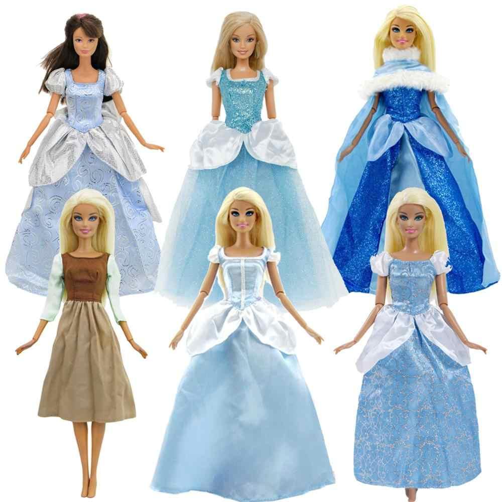Phụ Kiện Búp Bê Cổ Điển Truyện Cổ Tích Xanh Dương Công Chúa Bộ Trang Phục  Đảng Bầu Quần Áo Cho Búp Bê Barbie Đồ Chơi Trẻ Em Dolls Accessories