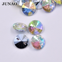13 34mm White Crystal AB Color Rhinestones Buttons Round Sewing Strass Button Crystal Stones For Coats