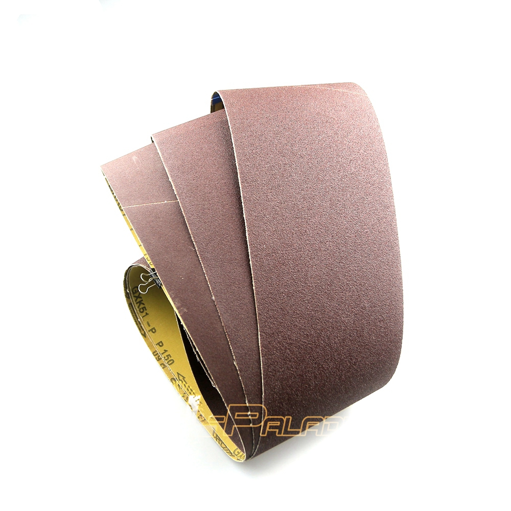 10 pieces 1220 150mm Sanding Cloth Belts P60 800 Wood Soft Metal Grinding Aluminum Oxide GXK51