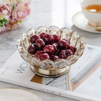 European Crystal Glass Fruit Bowl Home Accessories Tableware Decoration Fruit Dish