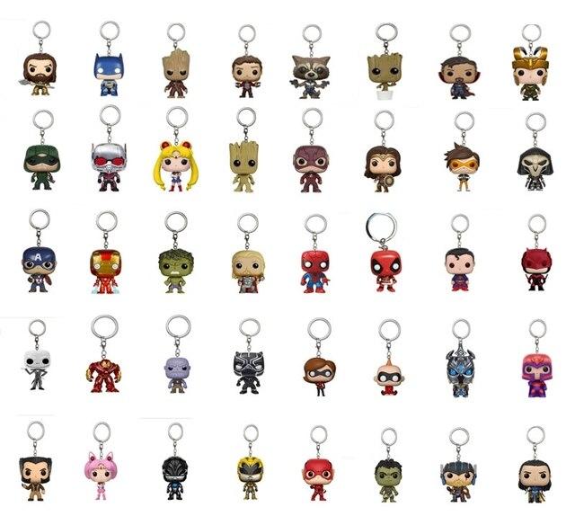 מארוול נוקמי מלחמת אינסוף האלק איש ברזל ספיידרמן תאנסו ראיית קפטן אמריקה נמלה Thor לוקי פעולה דמויות צעצועי Keychain