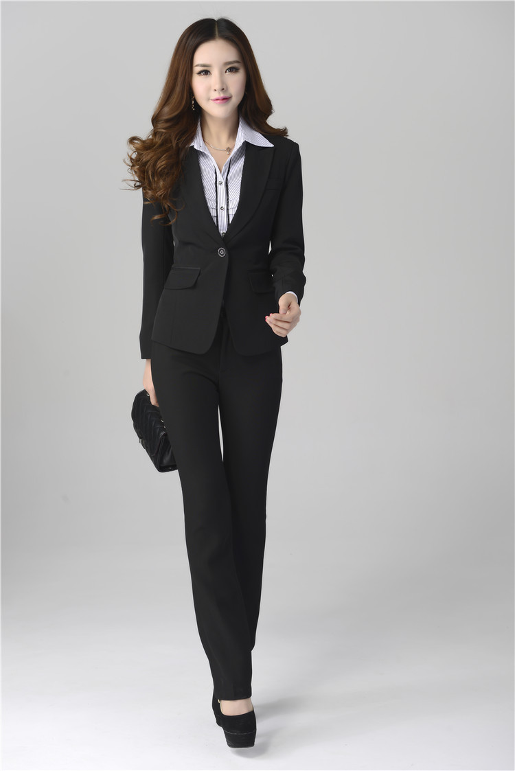 Elegant Women Suits With Pants 2014 Autumn Formal Office