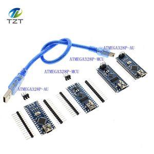 Image 1 - 10pcs NANO V3.0 ATMEGA328P With the bootloader Nano 3.0 controller compatible nano CH340 USB driver 16Mhz with CABLE for Arduino
