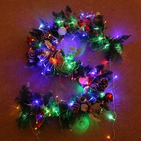 Christmas Rattan Party Wedding Happy New Year Ornament Home Office Hotel Christmas Tree Decorations With light arbol de navidad