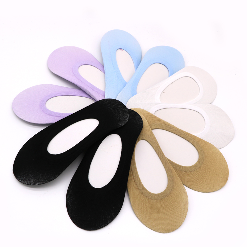1 3 4 5pair Solid Women Ankle Breathable Low Sock Seamless Invisible Socks Slippers Female No Show Socks Non slip Boat Socks in Sock Slippers from Underwear Sleepwears