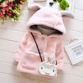 Новое качество теплая Осень зима детские пальто кролика мягкий флис плащ Малышей одежда для девочек кабо верхняя одежда детей clothing