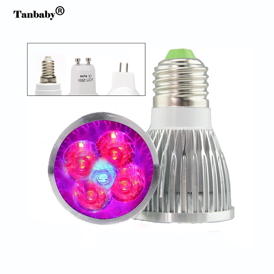 E27 GU10 E14 LED-glödlampa för växande växter Ljus full spektrum LED-växter Lampa Angiosperms Hydroponics växthusbelysning