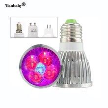 Tanbaby Full Spectrum LED Plant Grow Light E27 GU10 MR16 E14 10W Bulb Flower Lamp for Angiosperms Hydroponics Greenhouse