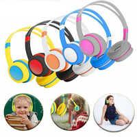 2019 Kids Over Ear Headphones Safely Children Over-Ear Headset with Adjustable Headband for Computer Tablet Kids Gift Earphones