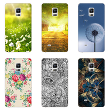 Case For Samsung Galaxy Note Edge N9150 N 9150 Back Cover Flower Plants Hard Plastic Printed Cute animals Phone Painting Case
