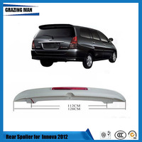Painted ABS Primer Unpainted Color Lip Wiper Car Rear Roof Spoiler For Toyota Innova 2012 2013 2014 2015 2016 12 13 14 15 16