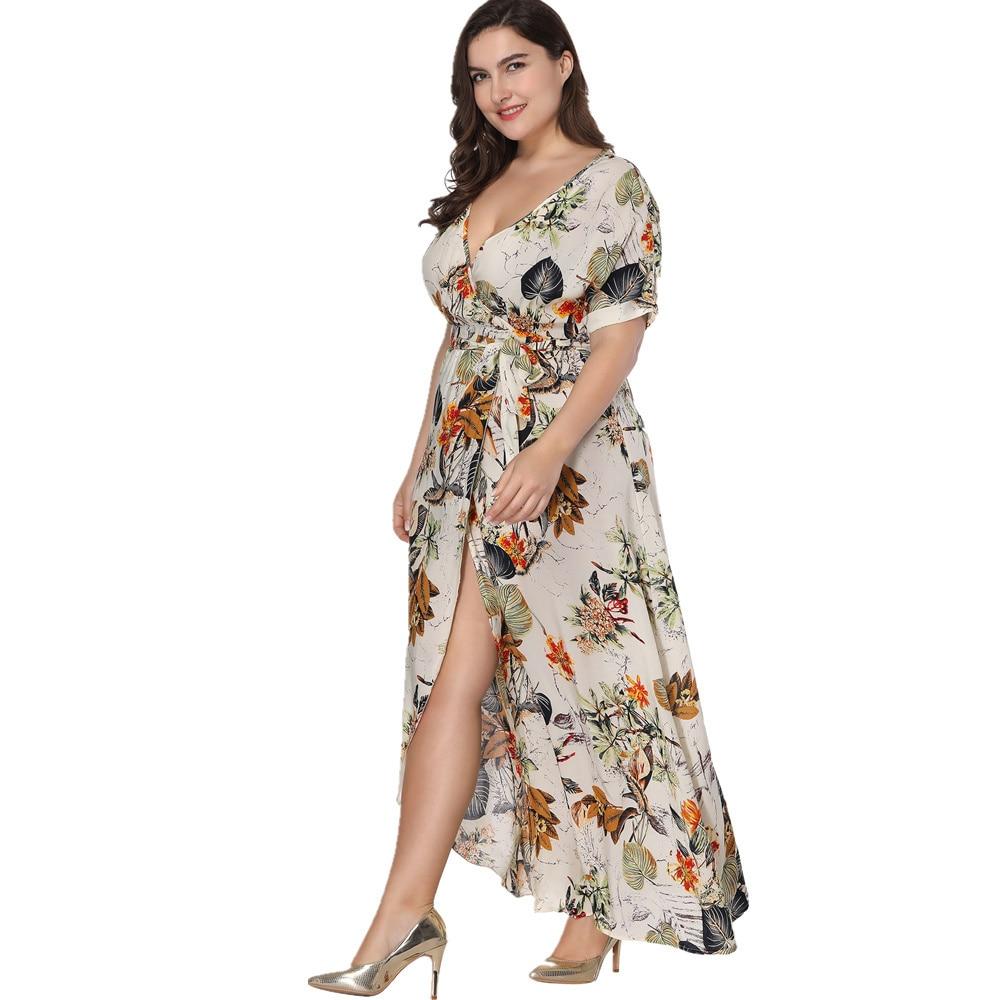 8275b32424d 2019 VITIANA Women Plus Big Size Maxi Long Beach Dress Female 2018 ...