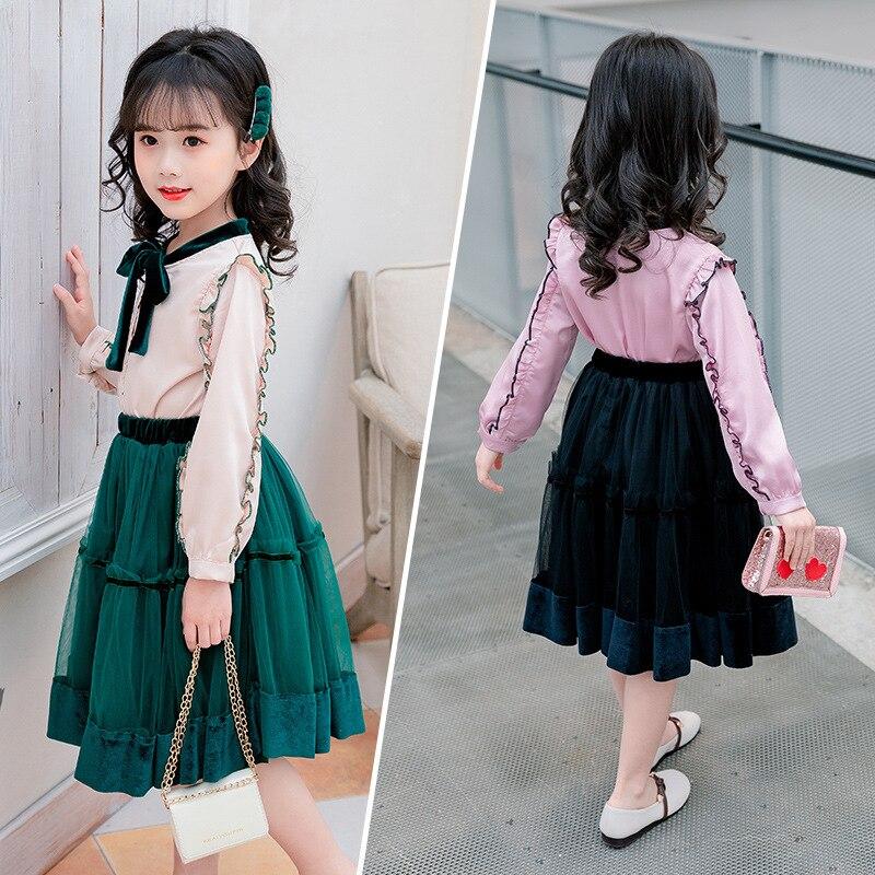 Toddler Girls Spring Clothes Set 2019 Girls Kids Clothes Set 2 Pcs Girls Clothing Sets For Teenage Suits Blouses Shirts + Skirts 1
