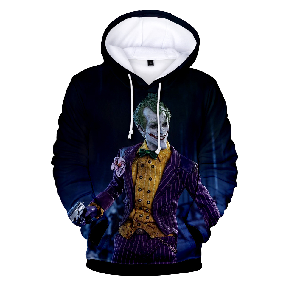 Hip Hop Funny Autumn Streetwear Haha Joker 3D  Sweatshirt Hoodie Women Couple