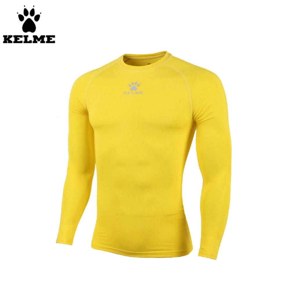 Kelme K15Z734 enfants Pro mince à manches longues carcan jaune