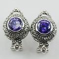 Amethyst 925 Sterling Silver Earrings TE513