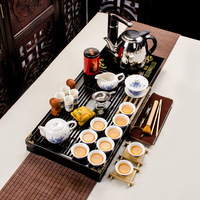 Blue and white porcelain tea set poly Sen wood tray Kung Fu tea special offer small orchid wholesale customized products