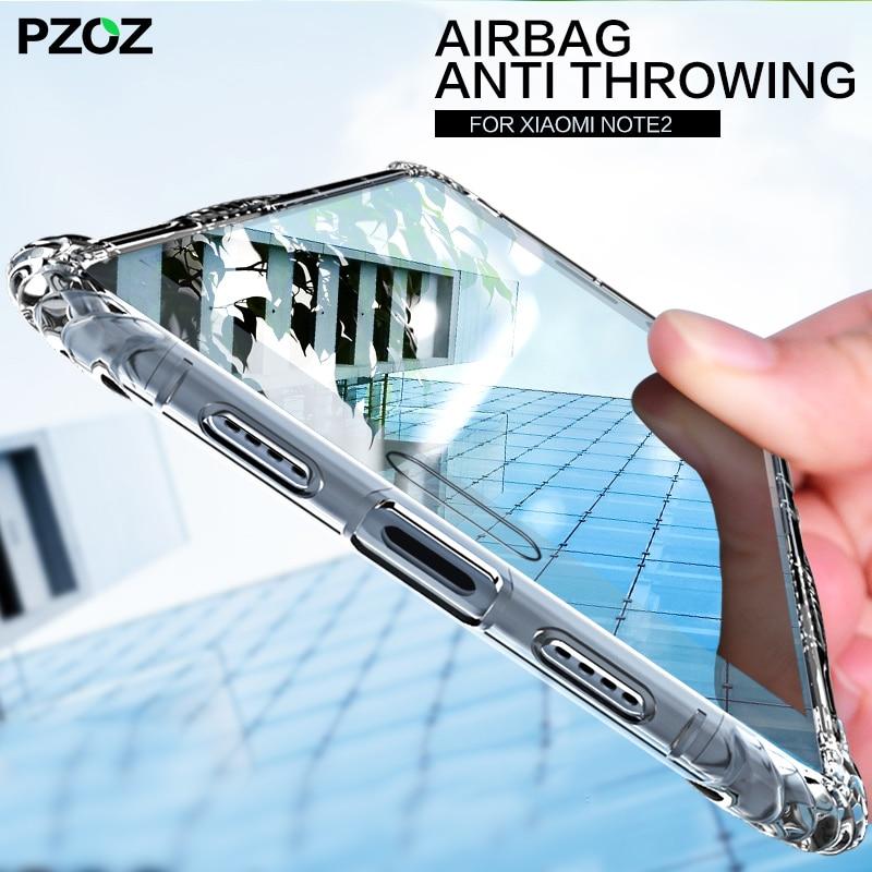 PZOZ for xiaomi mi note 2 note 3 case cover silicone prime shockproof accessories bumper for xiaomi mi note2 note3 pro case