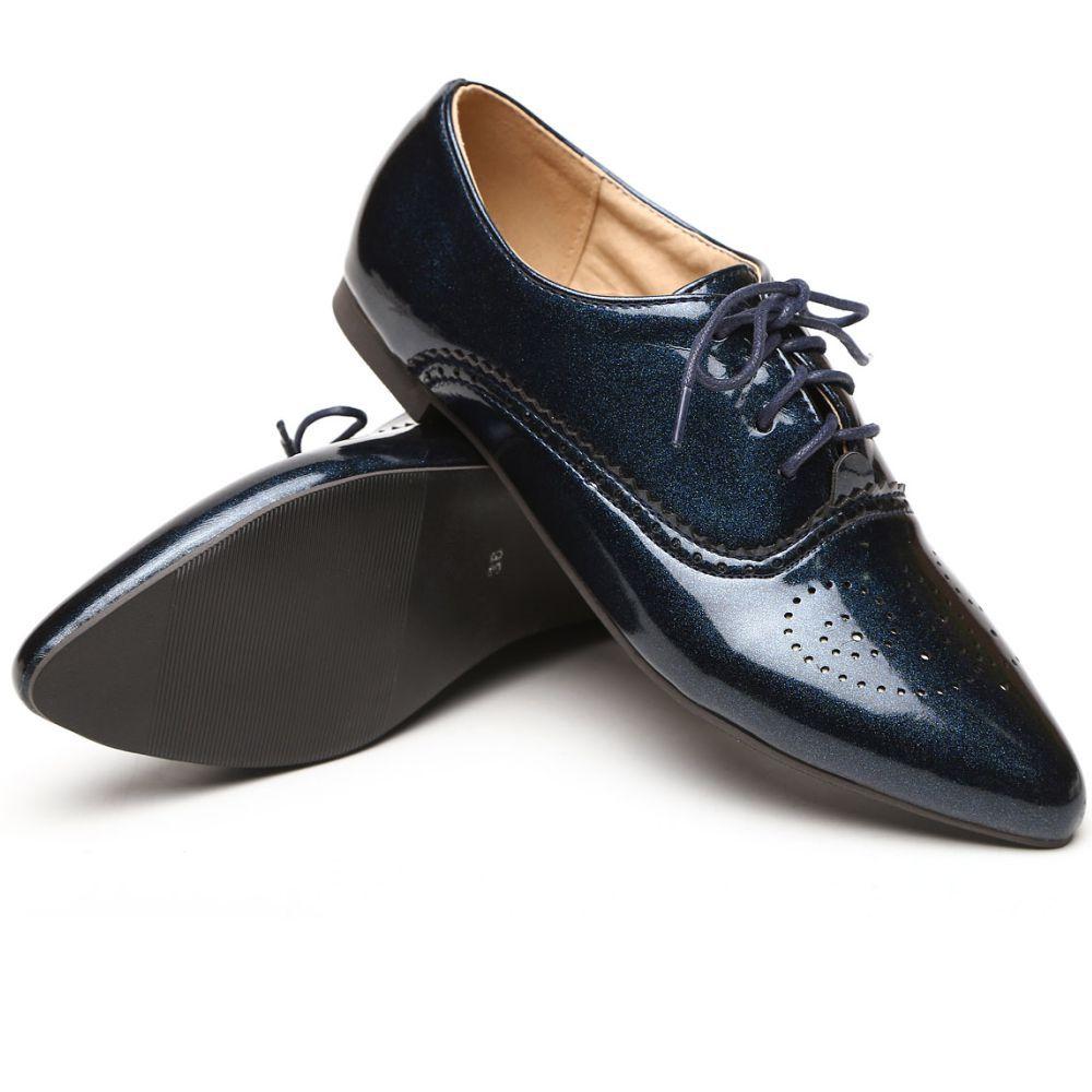 Brand New Fashion Women Glossy Oxfords Black Blue White Female  Brogue Shoes Low Heels ASP51-5 Plus Big Size 32 43 10 tivoli audio pal bt glossy blue white