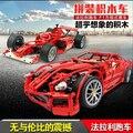 Новый Decool 599GTB Энцо F1 Formula One гонки Игрушка строительные блоки 3333/3334/3335 Кирпича Суперкар Собранный автомобиль модель мальчик подарок
