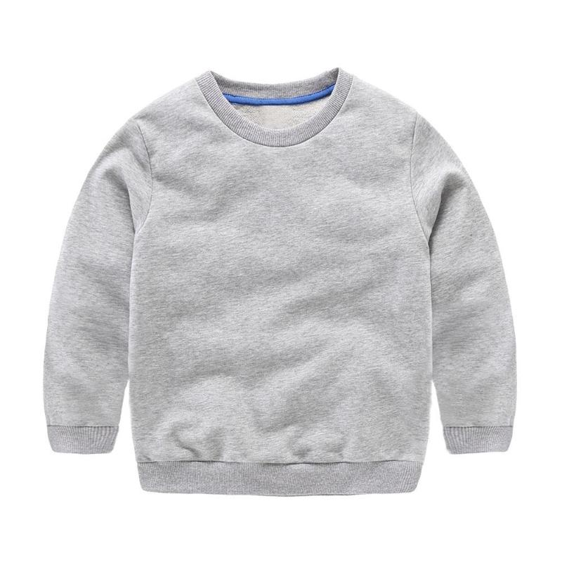 Spring Autumn Boys Sweatshirts Basic Cotton O-Neck Fashion Solid Color Tops Children Clothing Toddler Warm Outerwear Pullover boys spring hoodies children cotton long sleeve sweatshirt striped casual pullover kids boy clothing fashion o neck sweatshirts