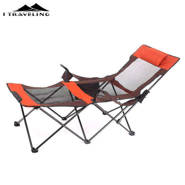 Enjoyable Aluminum Folding Beach Chair Elevated Bed Portable Outdoor Patio Furniture Heavy Duty Lounge For Camping Breathable Material Interior Design Ideas Pimpapslepicentreinfo