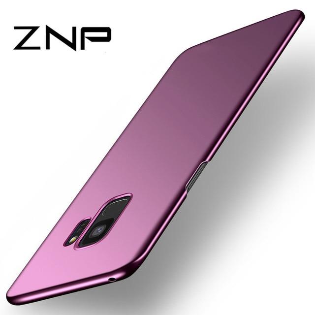 יוקרה Slim Case ההגנה לסמסונג גלקסי S9 S8 ZNP פלוס הערה 8 קצה קשה PC טלפון עבור Samsung S7 S8 S7 S9 Case Shell