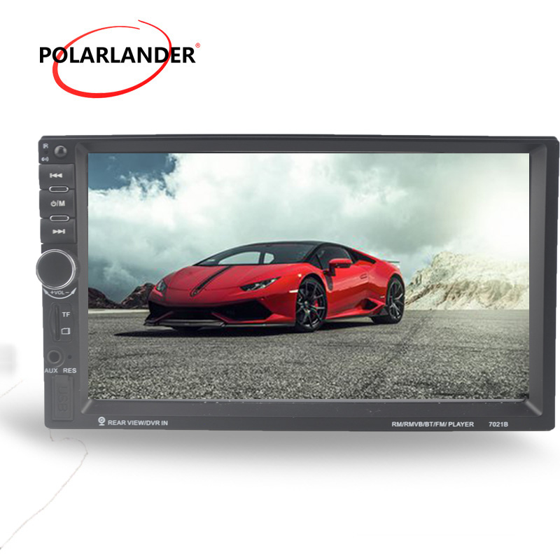 DVR input Car Radio Stereo MP5 MP4 Player Bluetooth touch screen FM USB video steering wheel control 10 languages 7 inch 2 din