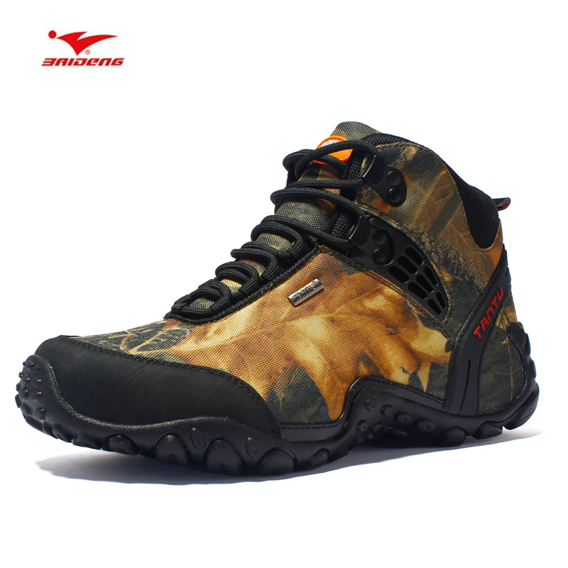 Men Hiking Shoes for Women Waterproof Trekking Boots Camouflage Sport Mountain Climbing Shoe Outdoor Walking Sneakers цена
