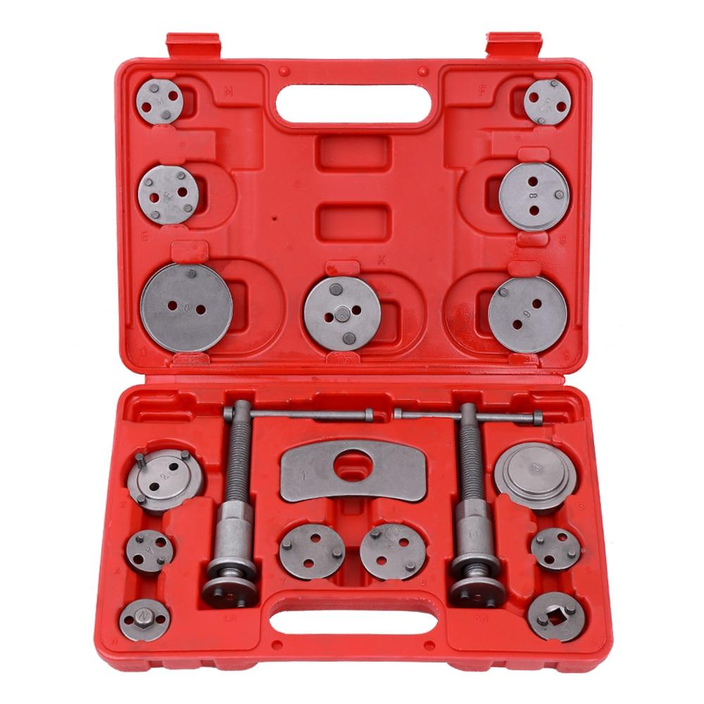 18 pièces outils à main ensemble voiture réparation Auto universel frein à disque étrier voiture vent arrière Pad Piston compresseur Automobile réparation outil