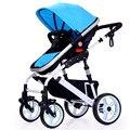 Europea de Lujo Cochecito de Bebé De Alta Vista Buggy Pram Cochecitos Plegable al por mayor Del Cabrito Estilo de Viaje Envío Gratis