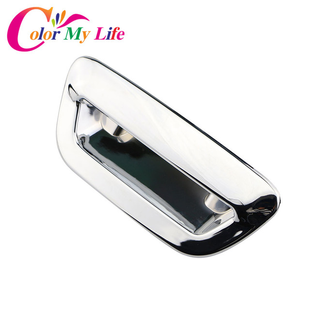 Color My Life Car Chrome Rear Trunk Door Handle Cover Back Trunk Door Bowl Covers Sticker For Jeep Compass 2017 2018 Accessories