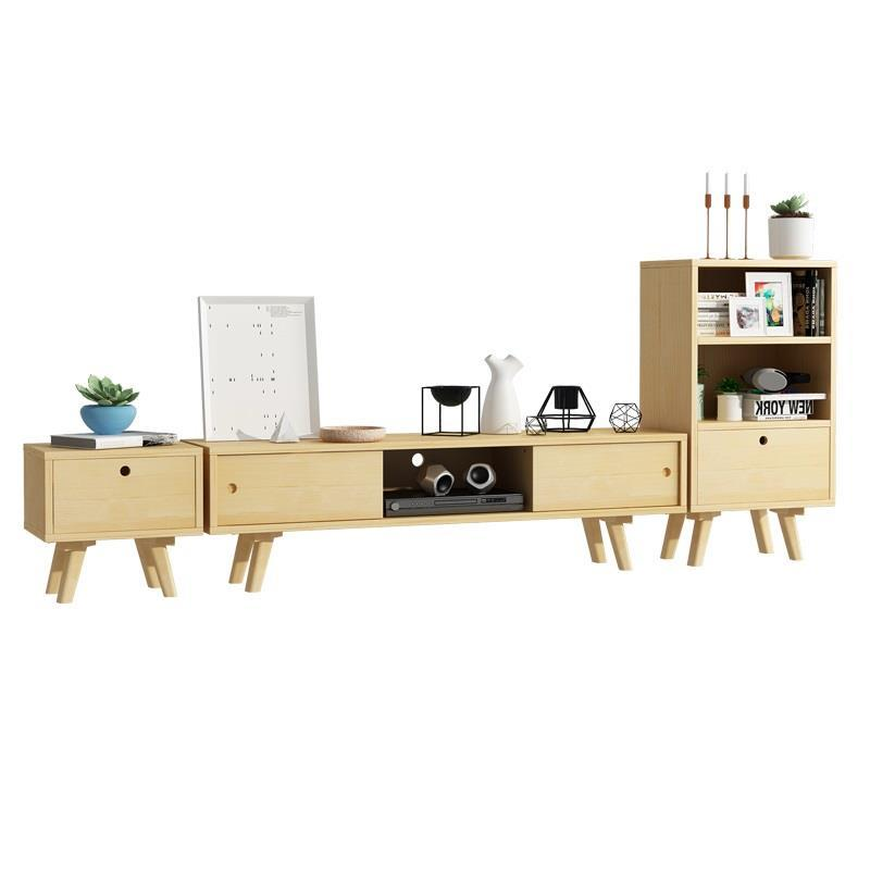 Nordic modern small apartment simple TV cabinet combination suite living room original coffee table my apartment