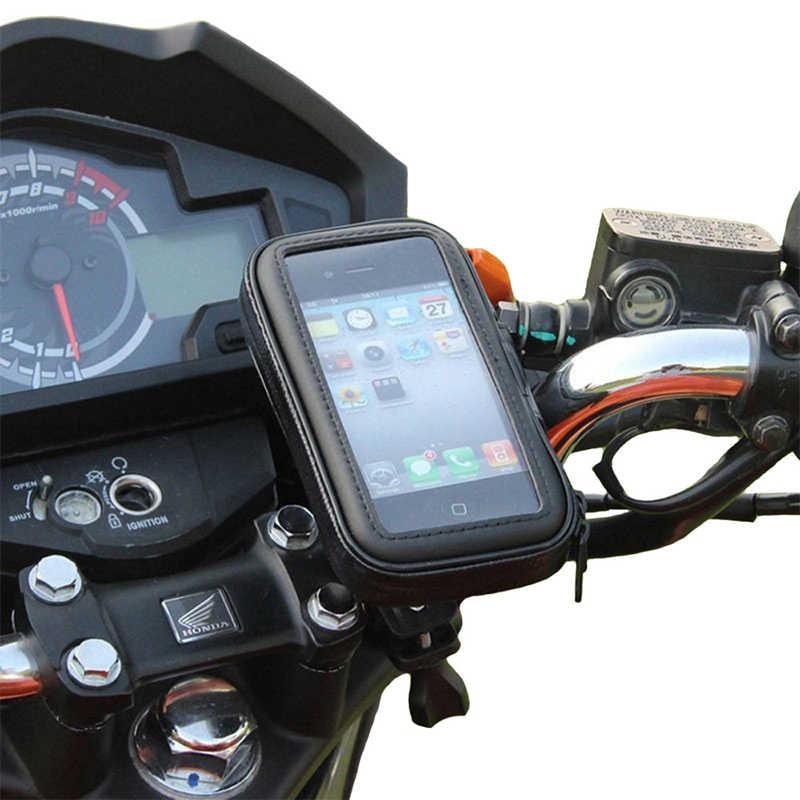 Fimilef オートバイバイク乗車電話防水バッグケース調節可能なホルダーハンドルバーマウント防塵バッグナビゲーション電話スタンド
