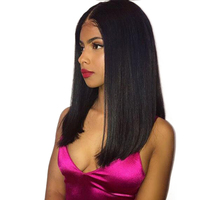 Eseewigs короткие прямые синтетические волосы на кружеве натуральные волосы Искусственные парики боб 13X6 Glueless кружево Искусственные парики с р