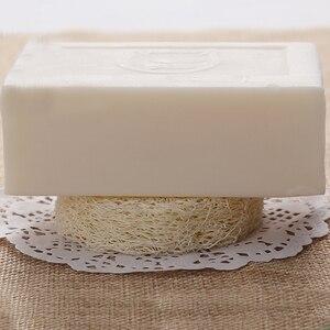 Image 4 - 100 Uds por encima de 6cm wide1.25 1,4 cm de espesor Natural Loofah Luffa Loofa Slice shand hecho DIY jabón herramientas de almacenamiento de jabón facial