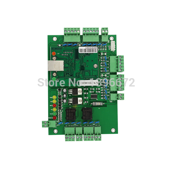 ФОТО Free Shipping DHL 2 Doors wiegand TCP/IP Network access control board Rfid card access control Panel