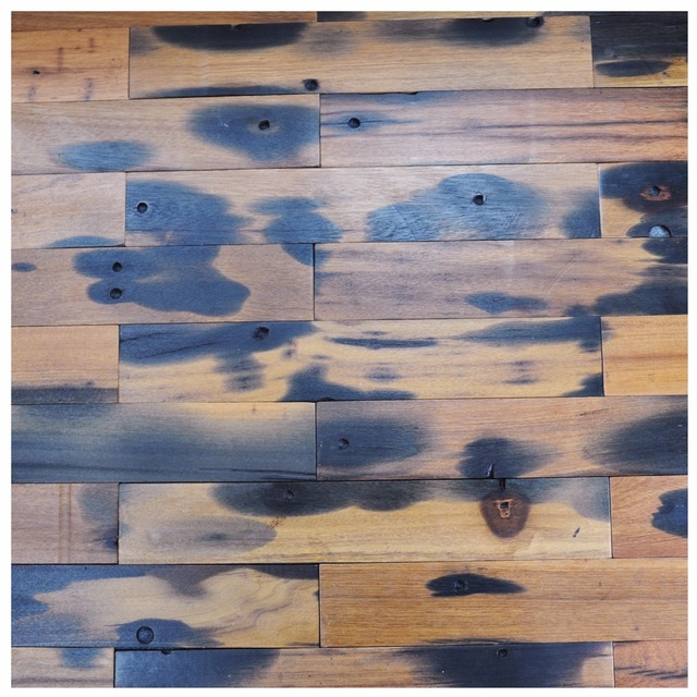 4 X 24 Ancient Ship Wood Plate Walls Reclaimed Wall Paneling Interior Tiles 40 Pieces