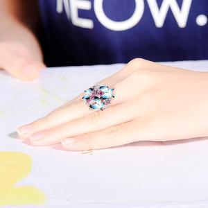 Image 5 - SANTUZZA bague en argent pour femmes 925 en argent Sterling glamour papillons brillant cubique zircon anneau bijoux de mode émail