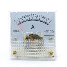 91C4 DC 0-1A Analog Panel Meter Ammeter Amperemeter