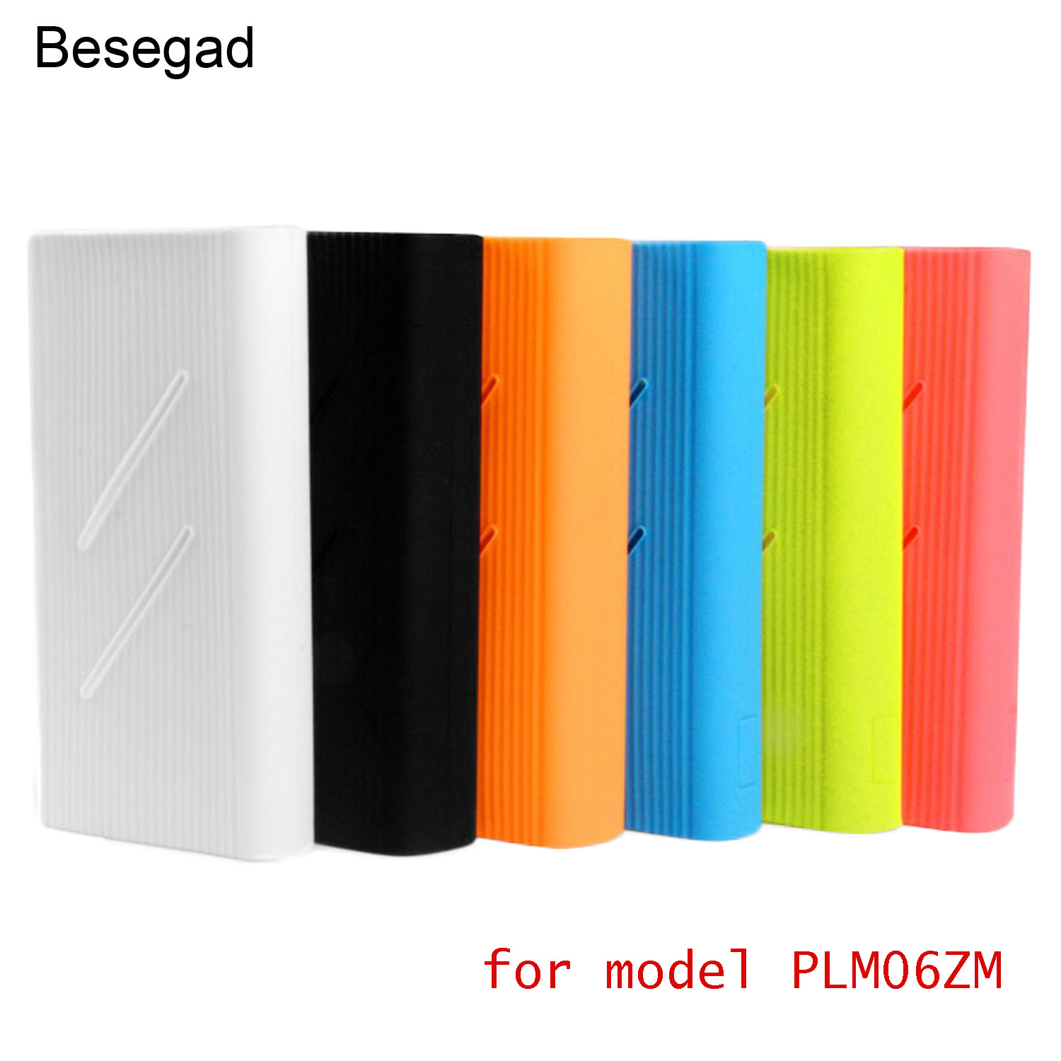 Besegad Soft Rubber Silicone Gel Protection <font><b>Case</b></font> Cover Skin Sleeve Protector for Xiaomi Xiao <font><b>Mi</b></font> <font><b>Power</b></font> <font><b>Bank</b></font> <font><b>2C</b></font> 20000mAh image