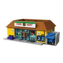 Лепин 16004 2232 шт. Симпсоны KWIK-E-MART Действие Модель Строительный блок кирпичи совместимые 71016 мальчик подарок