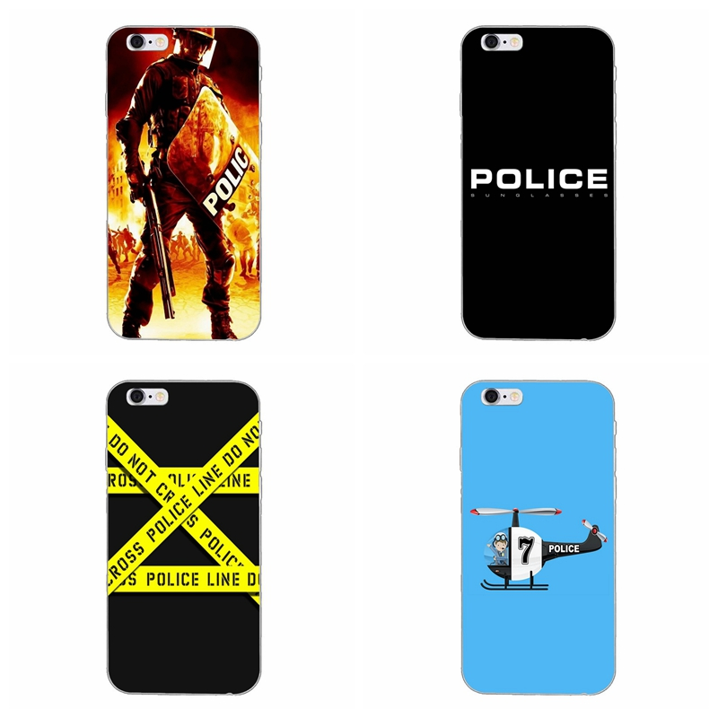 Quotes Police Symbol Slim Silicone Soft Phone Case For Samsung