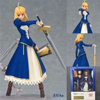 Anime Fate/Stay Night Brinquedos Figma EX-025 Saber Robe Ver. PVC Action Figure Collection Modèle Jouet Poupée 14 cm FSAF001