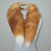 Pure natural fox collar suede warm collar silver fox fur collar red fox fur collar