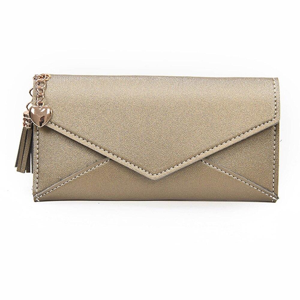 Bags For Women 2018 New Women Fashion Long Wallet Tassel Coin Purse Leather Bag Women Coin Pouch Mini Wallet Girls Purse