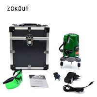 EU plug green laser level 360 degrees self leveling outdoor available line laser leveler could work with detector
