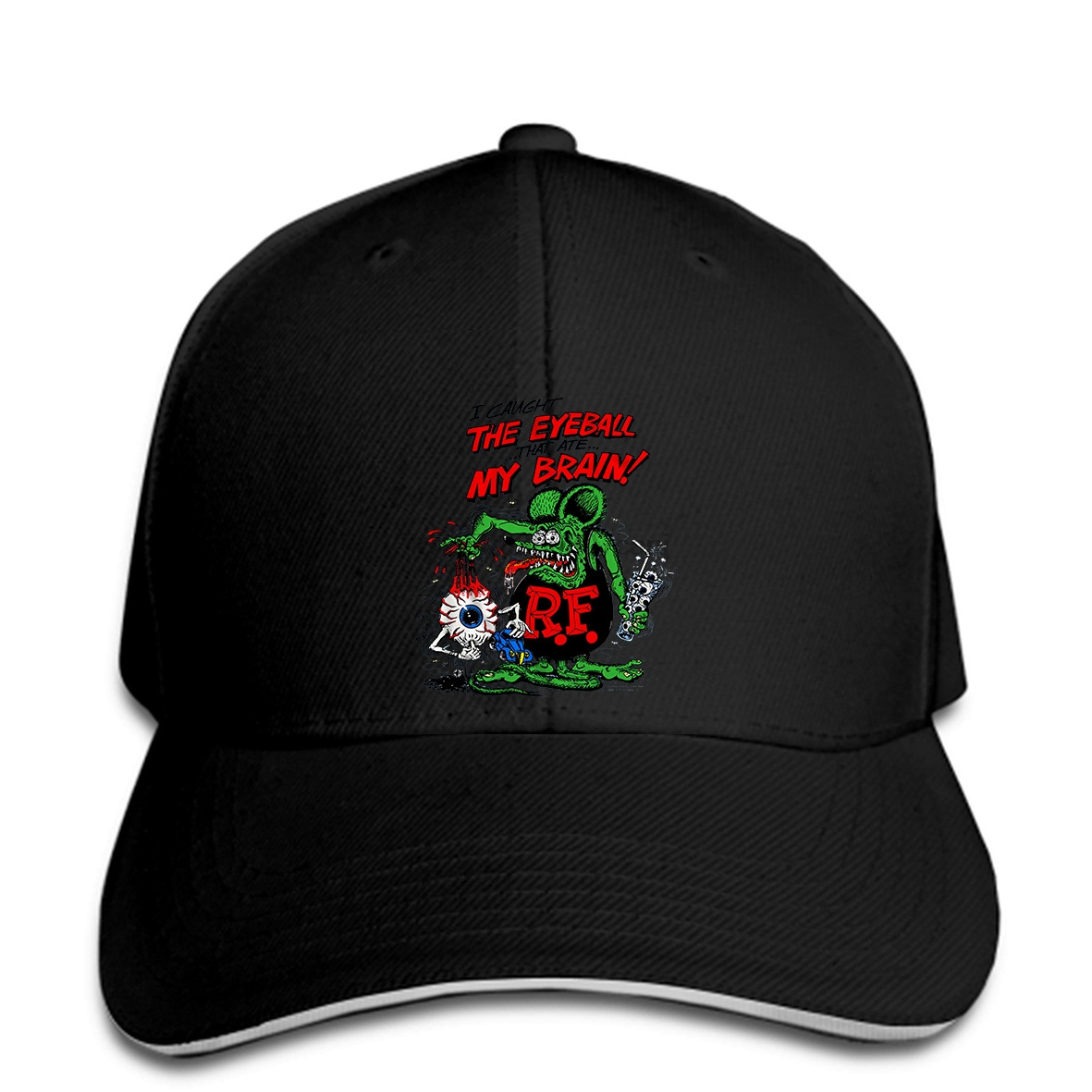 Us 8 81 11 Off Baseball Cap Ed Big Daddy Roth Rat Fink Creation The Eyeball That Ate My Brain Adult Print Hat In Men S Baseball Caps From Apparel
